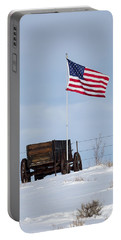 Wagon And Flag Portable Battery Charger