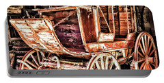 Portable Battery Charger featuring the painting Wagon by Muhie Kanawati