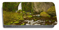 Wahclella Falls In The Columbia River Gorge In Oregon. Portable Battery Charger