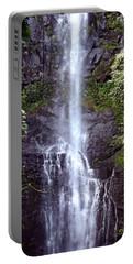Wailua Falls Maui Hawaii Portable Battery Charger by DJ Florek