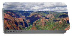 Portable Battery Charger featuring the photograph Waimea Canyon by Amy McDaniel