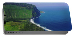 Waipio Valley Portable Battery Charger by Pamela Walton