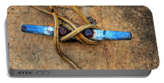 Waiting - Boat Tie Cleat By Sharon Cummings Portable Battery Charger