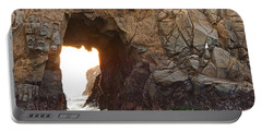 Waiting For Godot - Arch Rock In Pfeiffer Beach In Big Sur. Portable Battery Charger