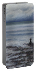 Portable Battery Charger featuring the painting In Desperate Music Wound by Stanza Widen