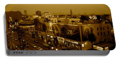 Walk Of Fame Hollywood In Sepia Portable Battery Charger
