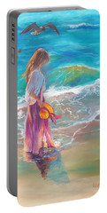 Walking In The Waves Portable Battery Charger