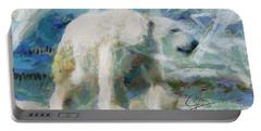 Portable Battery Charger featuring the painting Cold As Ice by Greg Collins