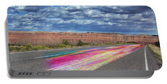 Portable Battery Charger featuring the digital art Walking With God by Margie Chapman