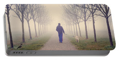 Walking With The Dog Portable Battery Charger