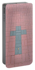 Portable Battery Charger featuring the photograph walkway of Faith by Aaron Martens