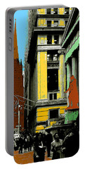 New York Pop Art Blue Green Red Yellow Portable Battery Charger