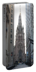 Wall Street Leading To Trinity Church Portable Battery Charger by John Telfer