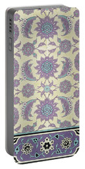 Wall Tiles From The Palace Of Ismayl Bey From Arab Art As Seen Through The Monuments Of Cairo  Portable Battery Charger