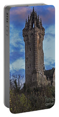 Wallace Monument During Sunset Portable Battery Charger