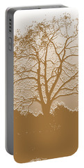 Walnut Tree Series Plaster Golden Portable Battery Charger