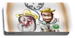 Walt Whitman Meets Clint Eastwood Portable Battery Charger