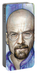 Walter White - Breaking Bad Portable Battery Charger by Olga Shvartsur