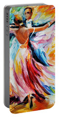 Waltz - Palette Knife Oil Painting On Canvas By Leonid Afremov Portable Battery Charger