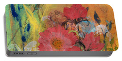 Portable Battery Charger featuring the painting Wandering Princess by Robin Maria Pedrero