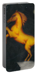 Portable Battery Charger featuring the painting War Horse. by Kenneth Clarke