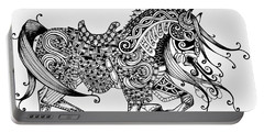 War Horse - Zentangle Portable Battery Charger