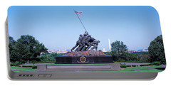 War Memorial With Washington Monument Portable Battery Charger by Panoramic Images
