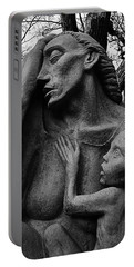 War Mother By Charles Umlauf In Black And White Portable Battery Charger