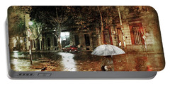 Warm Rainy Evening Portable Battery Charger
