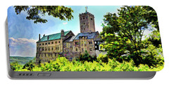 Portable Battery Charger featuring the photograph Wartburg Castle - Eisenach Germany - 1 by Mark Madere