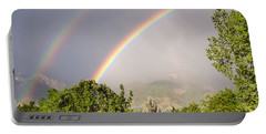 Portable Battery Charger featuring the photograph Wasatch Rainbow by Sue Smith