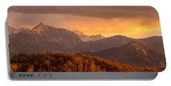 Portable Battery Charger featuring the photograph Wasatch Sunset by Dustin  LeFevre