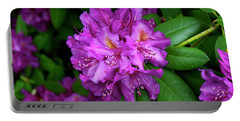Washington Coastal Rhododendron Portable Battery Charger by Ed  Riche