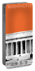 Washington Dc Skyline Lincoln Memorial - Coral Portable Battery Charger