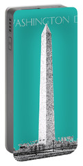 Washington Dc Skyline Washington Monument - Teal Portable Battery Charger