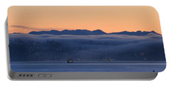 Washington State Ferries At Dawn Portable Battery Charger by E Faithe Lester