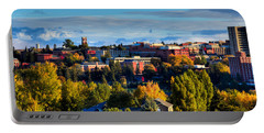 Washington State University In Autumn Portable Battery Charger