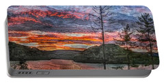 Watauga Lake Sunset Portable Battery Charger by Tom Culver