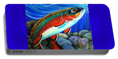 Brook Trout  Portable Battery Charger by Jackie Carpenter