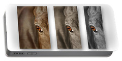 Watchful Triptych Portable Battery Charger by Michelle Twohig