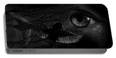 Portable Battery Charger featuring the drawing Watching Over Sparrows by Sandra LaFaut