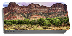 Portable Battery Charger featuring the photograph Watchman Trail - Zion by Tammy Wetzel
