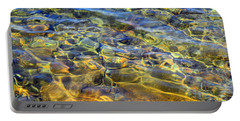 Water Abstract Portable Battery Charger by Lynda Lehmann