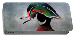 Water Color Wood Duck Portable Battery Charger