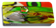 Portable Battery Charger featuring the photograph Water Drop by Peter Lakomy