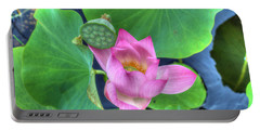 Water Flower Portable Battery Charger