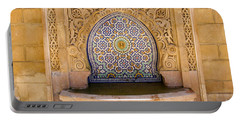 Portable Battery Charger featuring the photograph Water Fountain Mausoleum Of Mohammed V Opposite Hassan Tower Rabat Morocco  by Ralph A  Ledergerber-Photography