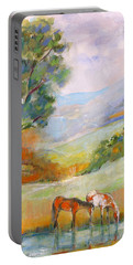 Water Hole Portable Battery Charger by Mary Armstrong