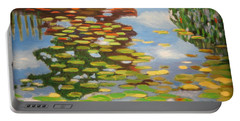 Water Lilies Portable Battery Charger by Karyn Robinson