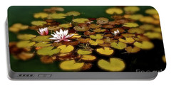 Water Lilies Portable Battery Charger by Linda Bianic